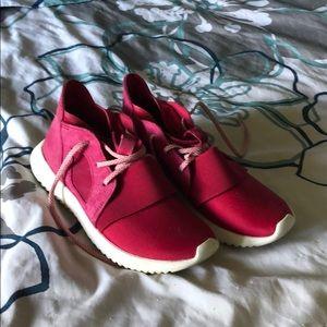 Adidas shoes (mauve/red)